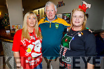 Ann Lowham, Hugh Fitzgibbon and Sandra Byrne enjoying the Boherbee/John Mitchels Active retired Christmas Party in John Mitchels on Saturday.