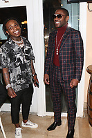 MIAMI, FL - FEBRUARY 19: Jaquees & Floyd Mayweather at the 44th futuristic Birthday Party at Casablanca on the Bay on February 19, 2021 in Miami, Florida. Photo Credit: Walik Goshorn/Mediapunch