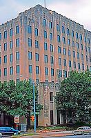 Austin:  State Highway Bldg., 1933. 11th St.  Susman Tisdale Gayle Architects, Inc. .(Now Dewitt C. Greer Building) Art Deco high rise.