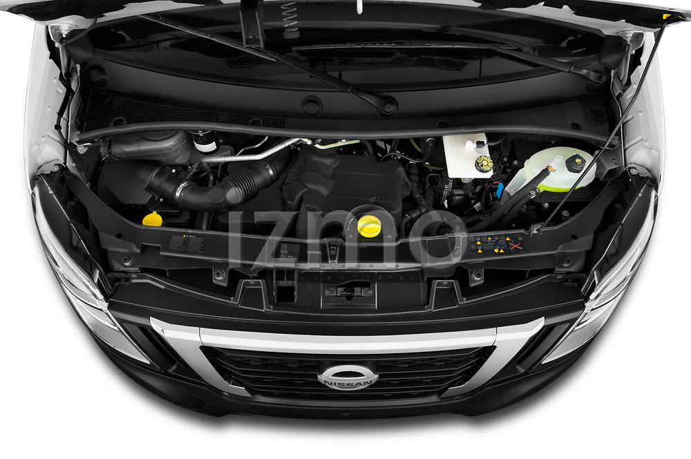Car Stock 2020 Nissan NV400-Tipper Acenta 2 Door Chassis Cab Engine  high angle detail view