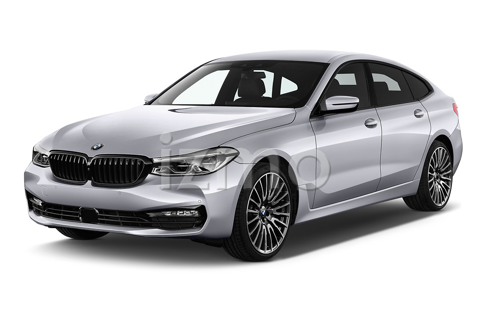2018 BMW 6 series gran turismo Sport 5 Door Hatchback angular front stock photos of front three quarter view