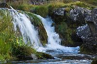 Dynjandi, Fjallfoss, kleinere Wasserfälle unterhalb des größeren Dynjandi, Wasserfall des Flusses Dynjandisá, größter Wasserfall in den Westfjorden Islands, Westfjorde, Vestfirðir, Fjord, Fjordlandschaft, Fjorde, waterfall, Westfjords, West Fjords, Fjords, Island, Iceland