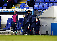 4th November 2020; Madejski Stadium, Reading, Berkshire, England; English Football League Championship Football, Reading versus Preston North End; Reading Manager Veljko Paunovic looking disappointed on the touchline