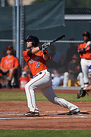 San Francisco Giants Matt Winn (12) hits a home run during an instructional league game against the Kansas City Royals on October 22, 2015 at the Giants Baseball Complex in Scottsdale, Arizona.  (Mike Janes/Four Seam Images)