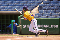 East Carolina Pirates Ryley Johnson (12) bats during a game against the Memphis Tigers on May 25, 2021 at BayCare Ballpark in Clearwater, Florida.  (Mike Janes/Four Seam Images)