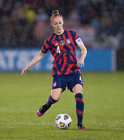 EAST HARTFORD, CT - JULY 1: Becky Sauerbrunn #4 of the USWNT passes the ball during a game between Mexico and USWNT at Rentschler Field on July 1, 2021 in East Hartford, Connecticut.