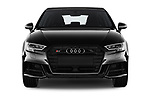 Car photography straight front view of a 2018 Audi S3 Sportback Base 5 Door Hatchback