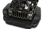 Car Stock 2016 JEEP Wrangler-Unlimited Rubicon 5 Door SUV Engine  high angle detail view