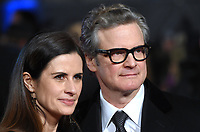 """Livia and Colin Firth<br /> arriving for the premiere of """"The Mercy"""" at the Curzon Mayfair, London<br /> <br /> <br /> ©Ash Knotek  D3375  06/02/2018"""