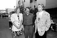 Montreal (Qc) CANADA - July 1992 File Photo - Juste Pour Rire Festival - - Jean Dore, mayor of Montreal, Gilbert Rozon