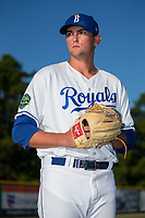 Burlington Royals pitcher Joey Markus (60) poses for a photo prior to the game against the Danville Braves at Burlington Athletic Stadium on August 12, 2017 in Burlington, North Carolina.  The Braves defeated the Royals 5-3.  (Brian Westerholt/Four Seam Images)