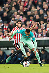 Neymar da Silva Santos Junior (r) of FC Barcelona fights for the ball with Raul Garcia of Athletic Club during their Copa del Rey Round of 16 first leg match between Athletic Club and FC Barcelona at San Mames Stadium on 05 January 2017 in Bilbao, Spain. Photo by Victor Fraile / Power Sport Images
