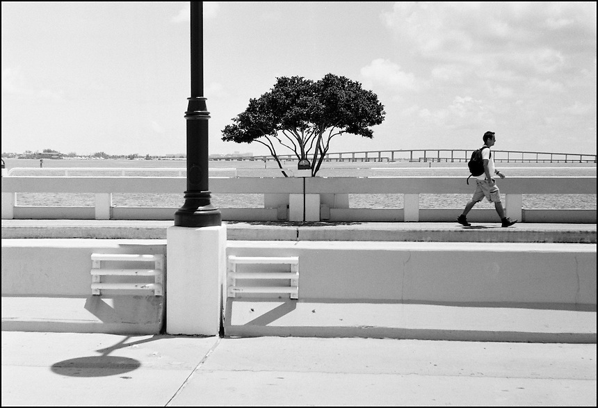 "From ""Walking Downtown"" series. Maimi, 2009."