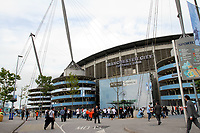 Manchester City V Swansea Football Club, 15/08/11<br /> Swansea Fans arrive at the stadium ahead of the 8pm kick off. <br /> Picture by: Ben Wyeth / Athena Picture Agency<br /> info@athena-pictures.com