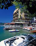 Austria, Salzkammergut, St. Wolfgang: White Horse Inn at Lake Wolfgang