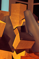 Vereinigte arabische Emirate (VAE, UAE), Abu Dhabi, Saadiyat-Ausstellung im Hotel Emirates Palace, Modell Guggenheimmuseum