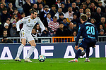 Gareth Bale of Real Madrid and Nacho Monreal of Real Sociedad during La Liga match between Real Madrid and Real Sociedad at Santiago Bernabeu Stadium in Madrid, Spain. November 23, 2019. (ALTERPHOTOS/A. Perez Meca)