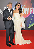 """George Clooney and Amal Clooney at the 65th BFI London Film Festival """"The Tender Bar"""" American Express gala, Royal Festival Hall, Belvedere Road, on Sunday 10th October 2021, in London, England, UK. <br /> CAP/CAN<br /> ©CAN/Capital Pictures"""