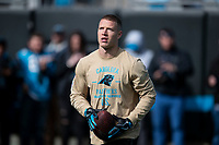 CHARLOTTE, NC - NOVEMBER 17: Christian McCaffrey #22 of the Carolina Panthers during a game between Atlanta Falcons and Carolina Panthers at Bank of America Stadium on November 17, 2019 in Charlotte, North Carolina.