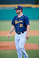 Montgomery Biscuits Thomas Milone (21) after a game against the Biloxi Shuckers on May 8, 2018 at Montgomery Riverwalk Stadium in Montgomery, Alabama.  Montgomery defeated Biloxi 10-5.  (Mike Janes/Four Seam Images)
