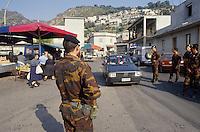 - Calabria patrol in Aspromonte by NAPS special force (State Police Anti-kidnapping Unit) at San Luca village in search of kidnapped Paolo Canale (July 1992)<br /> <br /> - Calabria, perlustrazione in Aspromonte del reparto speciale NAPS (Nucleo Antisequestri Polizia di Stato) nei pressi del paese di S.Luca in cerca del rapito Paolo Canale (luglio 1992)