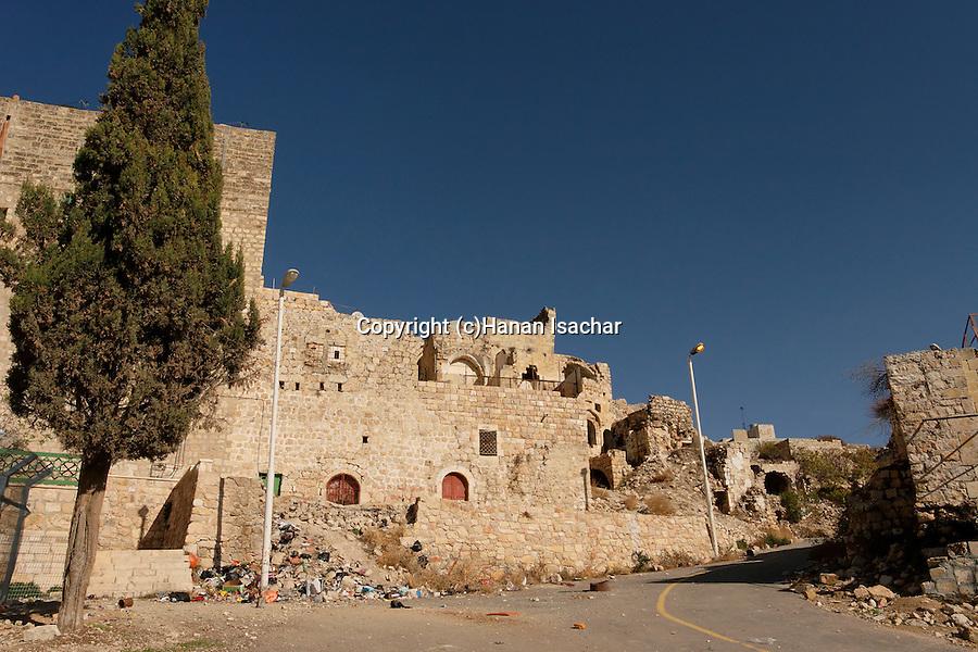 Judea, Hebron Mountain. A street near the Cave of Machpelah in Hebron