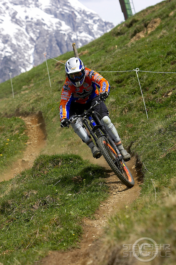 Tracy Moseley..Leogang , Austria  May 2005..pic copyright Steve Behr / Stockfile