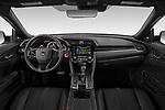 Stock photo of straight dashboard view of 2020 Honda Civic-Hatchback Sport-Touring 5 Door Hatchback Dashboard