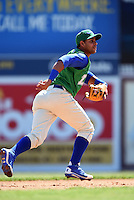 Lexington Legends second baseman Ramon Torres (2) during a game against the Hagerstown Suns on May 19, 2014 at Whitaker Bank Ballpark in Lexington, Kentucky.  Lexington defeated Hagerstown 10-8.  (Mike Janes/Four Seam Images)