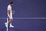 SHANGHAI, CHINA - OCTOBER 12:  Michael Llodra of France reacts after loosing a point against David Ferrer of Spain during day two of the 2010 Shanghai Rolex Masters at the Shanghai Qi Zhong Tennis Center on October 12, 2010 in Shanghai, China.  (Photo by Victor Fraile/The Power of Sport Images) *** Local Caption *** Michael Llodra