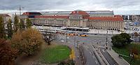 Stadtansichten 2009 - Blick vom Hotel Novotel in Richtung Hauptbahnhof Promenaden - Innenstadtring Haltestelle Bahnhof Luftaufnahme. Foto: Norman Rembarz..Norman Rembarz , ( ASV-Autorennummer 41043728 ), Holbeinstr. 14, 04229 Leipzig, Tel.: 01794887569, Hypovereinsbank: BLZ: 86020086, KN: 357889472, St.Nr.: 231/261/06432 - Jegliche kommerzielle Nutzung ist honorar- und mehrwertsteuerpflichtig! Persönlichkeitsrechte sind zu wahren. Es wird keine Haftung übernommen bei Verletzung von Rechten Dritter. Autoren-Nennung gem. §13 UrhGes. wird verlangt. Weitergabe an Dritte nur nach  vorheriger Absprache..