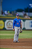 Andy Ibanez (10) of the Round Rock Express during the game against the Omaha Storm Chasers at Werner Park on May 27, 2018 in Papillion , Nebraska. Round Rock defeated Omaha 8-3. (Stephen Smith/Four Seam Images)