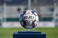 matchball pictured before a female soccer game between  AA Gent Ladies and RSC Anderlecht on the 17th matchday of the 2020 - 2021 season of Belgian Scooore Womens Super League , saturday 20 th of March 2021 in Oostakker , Belgium . PHOTO SPORTPIX.BE | SPP | STIJN AUDOOREN