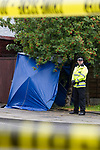 © Joel Goodman - 07973 332324 . 23/06/2011 . Salford , UK . Police close off roads and erect a cordon as a detailed search of the area around a house on Ethel Avenue and adjoining Bolton Road is carried out after a man was found stabbed to death earlier this (Thursday 23rd) morning. An investigation is underway following the murder of a man believed to have been attempting to break in a home in Salford, Greater Manchester. A householder has been arrested . Photo credit : Joel Goodman