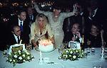BERTHOLD VON STOHRER, MARA VENIER, ELSA MARTINELLI, DANTE FERRETTIE  CARLA DE MARTINO   <br /> COMPLEANNO ELSA MARTINELLI AL JEFF BLYNN'S   ROMA 2000