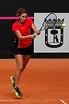 Egyptian tennis player Laila Elnimr during Tennis Junior Fed Cup in Madrid, Spain. September 30, 2015. (ALTERPHOTOS/Victor Blanco)