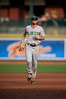 Clinton LumberKings outfielder Davis Bradshaw (5) during a Midwest League game against the Great Lakes Loons on July 19, 2019 at Dow Diamond in Midland, Michigan.  Clinton defeated Great Lakes 3-2.  (Mike Janes/Four Seam Images)
