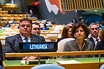 General Assembly Seventy-fourth session, 5th plenary meeting<br /> <br /> His Excellency Gitanas Nauseda, President, Republic of Lithuania