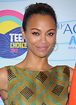 Zoe Saldana  at FOX's 2012 Teen Choice Awards held at The Gibson Ampitheatre in Universal City, California on July 22,2012                                                                               © 2012 Hollywood Press Agency