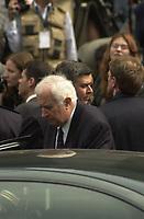 Jean Pelletier aux Funerailles de Pierre Trudeau, 4 octobre 2000