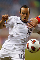 7 June 2011: USA Men's National Team midfielder Landon Donovan (10) in the first half during the CONCACAFsoccer match between USA MNT and Canada MNT at Ford Field Detroit, Michigan.