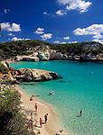 ESP, Spanien, Balearen, Menorca, Cala Mitjana: Badebucht im Sueden | ESP, Spain, Balearic Islands, Menorca, Cala Mitjana: bay and beach in the south
