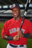 GCL Red Sox first baseman Jerry Downs (30) poses for a photo before the first game of a doubleheader against the GCL Rays on August 4, 2015 at Charlotte Sports Park in Port Charlotte, Florida.  GCL Red Sox defeated the GCL Rays 10-2.  (Mike Janes/Four Seam Images)