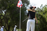 STANFORD, CA - APRIL 24: Rachel Heck, Amelia Garvey at Stanford Golf Course on April 24, 2021 in Stanford, California.