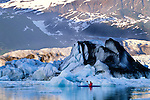 Kayaker on the Alsek River, Glacier Bay National Park, Alaska