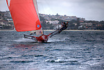 Training Session with the Australian Champion 2010 Gotta Love It 7 sailed by Seve Javin, Sam Newton and Tom Clout and trained by Andrew Palfrey..The 18ft Skiff is considered the fastest class of sailing skiffs. The class has a long history beginning with races on Sydney Harbour, Australia in 1892. It is the fastest conventional non-foiling monohull on the yardstick rating.