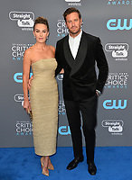 Armie Hammer & Elizabeth Chambers at the 23rd Annual Critics' Choice Awards at Barker Hangar, Santa Monica, USA 11 Jan. 2018<br /> Picture: Paul Smith/Featureflash/SilverHub 0208 004 5359 sales@silverhubmedia.com