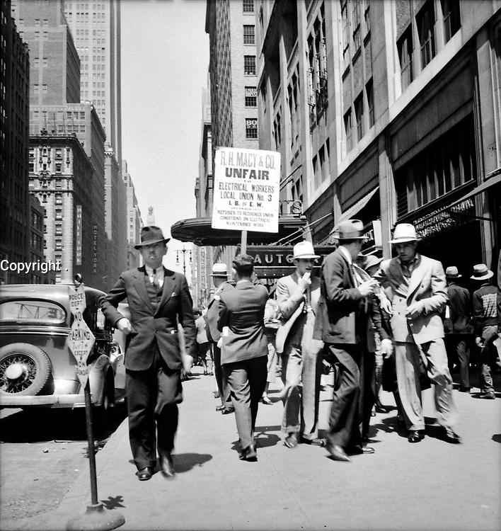 Urban Heartbeat: New York City street scene June 1936.<br /> <br /> Photo by Dorothea Lange