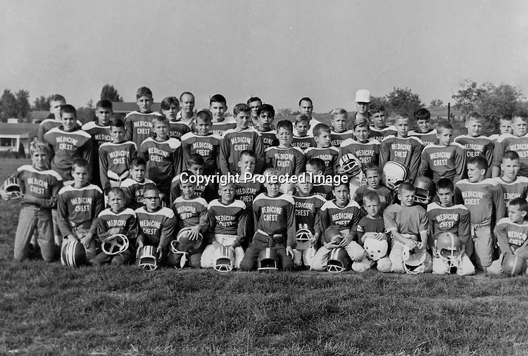 Bethel Park Recreation Football Team; Medicine Chest Recreation Football Team. Some of the team members were; Mike Stewart, Frank Felicetti, John Szot, Victor Tedesco, Bruce Mahoney, and many more.