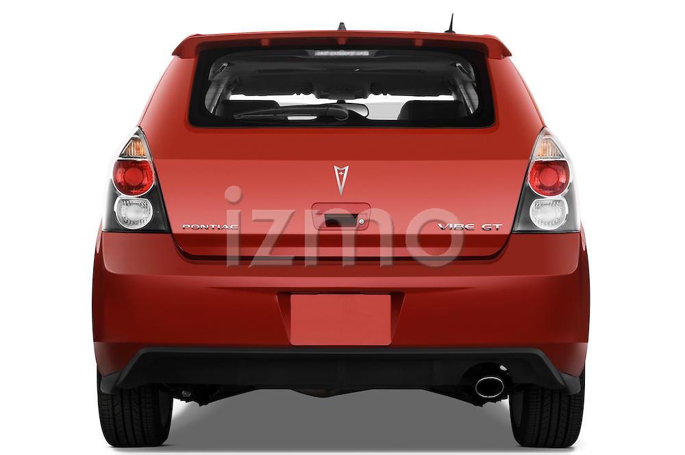 Straight rear view of a 2009 Pontiac Vibe GT